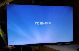 "A Toshiba 4942963DB 49"" LCD colour TV - complete with remote control - no stand"