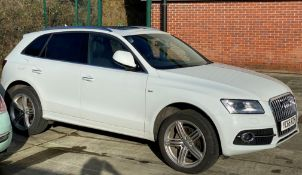 SEIZED VEHICLE AUDI Q5 TDi S LINE FIVE DOOR HATCHBACK - Diesel - White Reg No: YC66 RZH Recorded