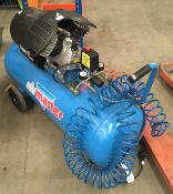 An Airmaster Tiger 16/1050 Turbo 240v portable compressor,