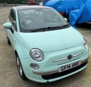 SEIZED VEHICLE FIAT 500 THREE DOOR HATCHBACK - Petrol - Light Green Reg No: GF14 AMX Rec Mileage: