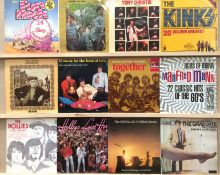 12 assorted LPs - mainly British 1960s/1970s groups and artists - The Hollies (3), Manfred Mann,