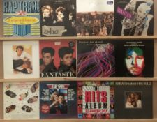 12 mixed/compilation LPs - Abba, The Hits Album, Top Gun, The Christmas Album, Kool and the Gang,