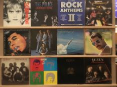 12 LPs - Queen (4), Freddie Mercury, Status Quo (2), The Police, U2, Bryan Ferry and Roxy Music,