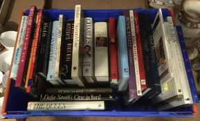 Contents to blue plastic tray (tray property of CWH) - twenty four assorted books on the Royal