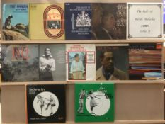 Contents to crate - 48 assorted LPs - mainly easy listening, classical, barber shop,