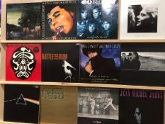 12 assorted mainly Rock LPs - U2 (2), Jean Michel Jarre (2), Pink Floyd, Deep Purple, The Who,