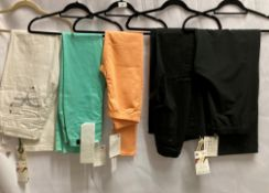 5 x assorted pairs of trousers/jeans by Vero Moda, Dylan George, etc.