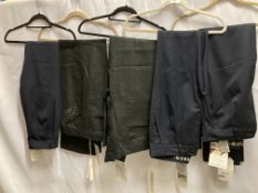 5 x assorted pairs of ladies trousers by Denham and Evalinka - 3 blue,