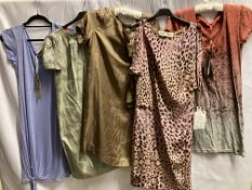 5 x assorted ladies dresses by Graham K Spencer, Nott????, etc.