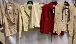 5 x assorted ladies jackets by Jorli, Gold, Gloria Estelles, etc.