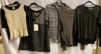 5 x assorted ladies T-shirts and jumpers by Vero Moda,