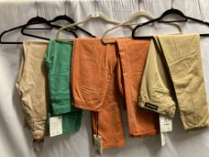 5 x assorted pairs of ladies jeans/chinos by Denham and Twenty8twelve (sizes 12-14) (Total