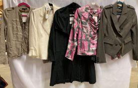 5 x assorted ladies jackets by Oui, Oscar B, Gold,