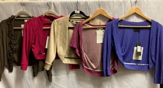 5 x assorted ladies shrugs by Ariana (sizes 2, 4,