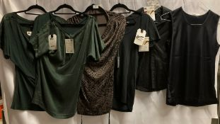 6 x assorted ladies blouses, t-shirts,