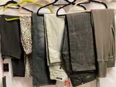 5 x assorted pairs of ladies trousers, leggings and jeans by Denham, Wezc and PAssport, etc.
