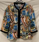 Ribkoff, fabulous colourful unlined evening jacket with eye catching shimmers, edge to edge front,