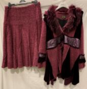 Tivoli (Limited Edition), a glamorous fur trimmed and embroidered jacket with matching skirt,