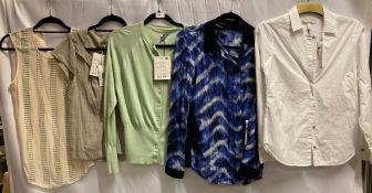 5 x assorted ladies T-shirts and shirts by Twenty8Twelve, Betty Barclay, etc.