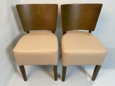 2 x Rebecca Vena BE-10 dining/side chairs with B.