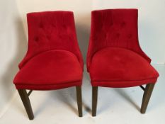 2 x Semi-Fredo Panaz Aston Red with clear lacquered frames