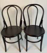 4 x Bentwood black side chairs