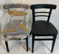 2 x Expresso Black Stain chairs with plastic gliders