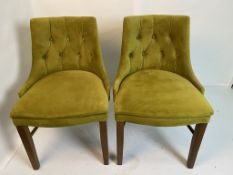 2 x Semi-Fredo Panaz Aston Green with clear lacquered frames