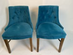2 x Semi-Fredo Panaz Aston Blue with clear lacquered frames
