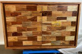 A Parquetry 2 door sideboard 117cm x 45cm x 90cm