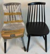 4 x Derwent Black Solid Seat Chairs