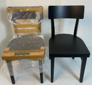 4 x Bakery Black Solid Seat Chairs - PMS Black 6