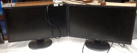 """Two Iiyama Prolite E2483HS 24"""" monitors *please note this lot is subject to VAT"""
