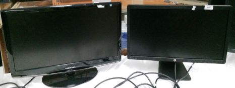"""A Samsung Syncmaster 2333 23"""" monitor and an HP Elite display E221A 22"""" monitor *please note this"""