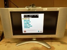"""A Sharp Aquos 22"""" colour TV complete with remote control"""