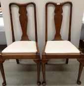 A pair of mahogany Queen Anne style dining chairs