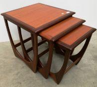 A nest of three G Plan teak coffee tables