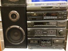 A Sony Stereo stacking system comprising PS-LX40P automatic turntable system,
