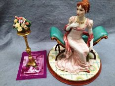 A Franklin Mint fine porcelain and hand painted Ltd Edition figurine Jane Austen's Marianne from