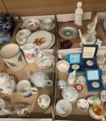 Contents to lids miniature ceramic trinket boxes, bone china teapots, Crescent china dishes etc.