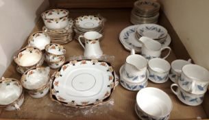 Contents to tray thirty pieces of Royal Standard Trend fine bone china part tea service and forty