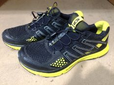 A pair of Saloman XR Mission size 9 in yellow and black