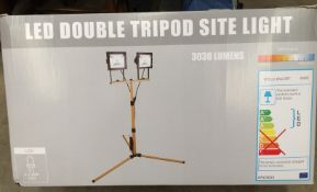 LED double tripod site light (two x 20w LED worklights)