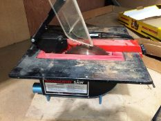 """Clarke Woodworker 8 1/3"""" table saw - 240v (model CTS 825) and paper guillotine"""