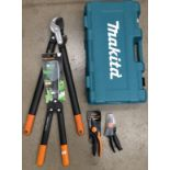 Five assorted items Fiskar L77, Fisher P92,