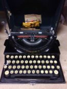 An Imperial 'The Good Companion' portable manual typewriter in carry case