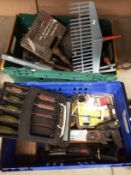 Contents to crates assorted hand tools, shoe last etc.