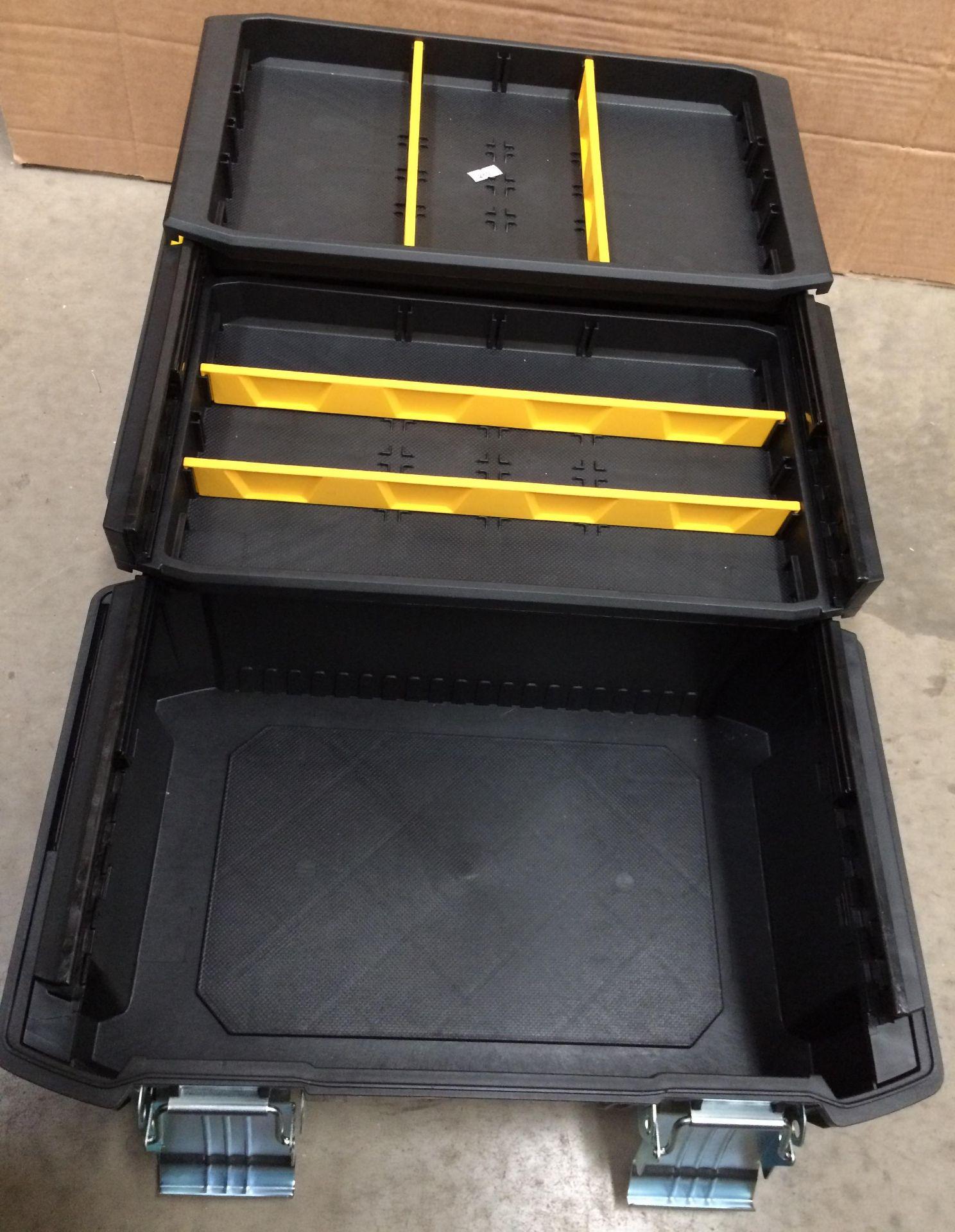 Stanley Fatmax 26cm three level tool box - Image 2 of 3