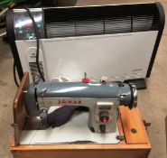 Jones CBE 240v sewing machine and a Lervia fan system heater - 240v