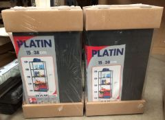 Two Platin plastic five shelf storage units